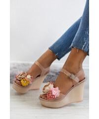 f5b0dcec798e Ideal Béžové platformové sandále Hortense