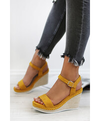 0913fdf8ae18 Ideal Žlté platformové sandále Circe