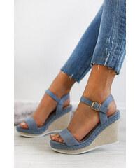 7fc74744ae51 Ideal Modré platformové sandály Circe
