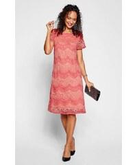 Korálové šaty s krajkou  beb5924ce00