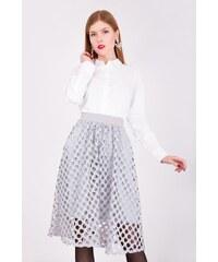 6240cfafc50b Dámská sukně v délce midi s ažurovou vrstvou