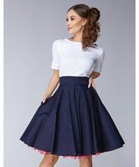 1009270e8cd0 GOTTA Dámská sukně Twist modrá malý puntík