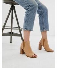 d16f250c93 ALDO Selalla peep toe block heeled sandal in beige - Beige