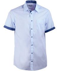 2d94c138dffb Modrá pánska košeľa rovná s krátkym rukávom Aramgad 40439