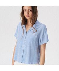 f3862fcbce62 Sinsay - Košeľa s krátkym rukávom - Modrá