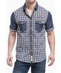Pánská košile Tokyo Laundry - modro - hnědá