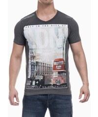 Pánské tričko s potiskem Smith & Jones - tmavě šedé