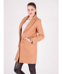 d43d5c2ef82f Styled in Italy Škoricovo-hnedý elegantný dámsky kabát