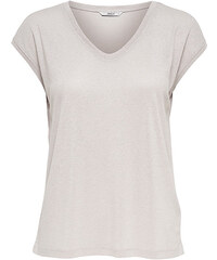 c4320454bfa4 ONLY Dámske tričko Silvery S S V Neck Lurex Top Jrs Noos Sepia Rose