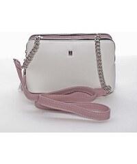 6b85a06cc4 Malá elegantná a moderná crossbody kabelka biela - David Jones Melany biela