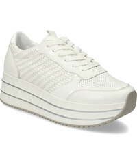 487b8fa2476f Bata light Biele dámske tenisky na vysokej flatforme