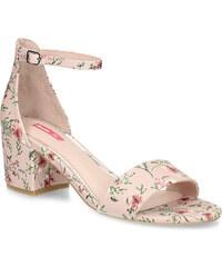 e601370dad45 Bata Red Label Ružové sandále na podpätku s kvetinovým vzorom