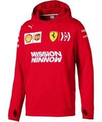 c257db2c66 Puma Ferrari pánska mikina s kapucňou red Half Zip F1 Team 2019