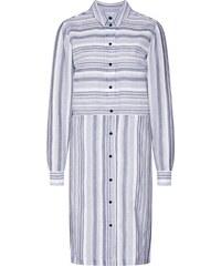 75bf2544b1dd VILA Letní šaty  VINAVIDA L S SHIRT DRESS  námořnická modř   bílá