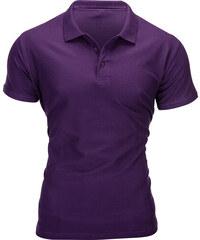 f4755e663a73 Ombre clothing Pánske tričko s límčekom Sheer fialové