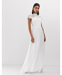 5376a3fbac84 Club L London Club L crochet detail maxi dress - White