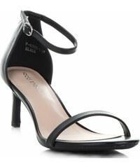 6ef5f4657572 Elegantní Dámské Sandály na podpatku Ideal Shoes Černé