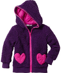 bpc bonprix collection Teddyfelljacke langarm in lila für Mädchen von bonprix