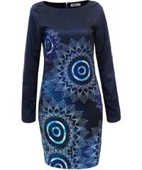 ELEGANCE Dámske modré šaty LIMEIRA M 5758a97ad82