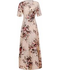 ELEGANCE Dámske ružové šaty BELEM L 26a8a93e380