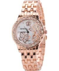 51b02a1b0 Růžové dámské hodinky se zirkony | 30 kousků na jednom místě - Glami.cz