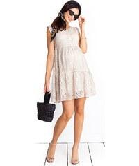 72de6efb4453 Happymum Tehotenské šaty Monique Beige Dress