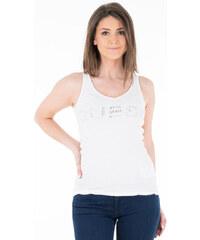 d1c5d26c11ce GUESS dámské bílé tričko s kamínky na ramínka