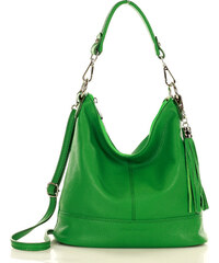 ccbeb9dba3 Zelená kabelka so strapcom MARCO MAZZINI (L147h)