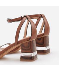 3d1acbeb9193 Reserved - Kožené sandále - Hnědá