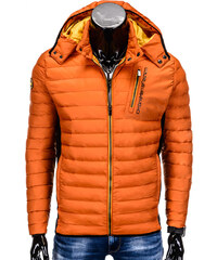 Ombre Clothing MEN S MID-SEASON QUILTED JACKET C291 Orange 1dcb316446b