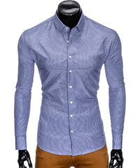 163e608e2031 Ombre Clothing MEN S ELEGANT SHIRT WITH LONG SLEEVES K424 Blue