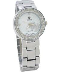 ff90d51e83 Dámské hodinky s kamínky Bellos Quatrz stříbrné 501ZD