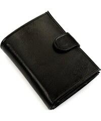 a622ae0d2d Pánska čierna peňaženka SOLIER (SW01 BLACK CLASP)