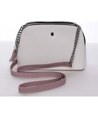 e2562d20bc4a Malá elegantná doplnková crossbody kabelka biela - David Jones Karen biela