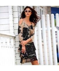 191c577fb881 Blancheporte Úpletové šaty s hviezdami sivá melír - Glami.sk