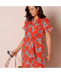 28e5605d45b8 Blancheporte Košilové šaty s potiskem červená bílá černá