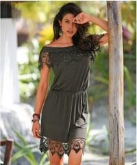 e2daeb6c776f Blancheporte Macramé šaty s pružným výstřihem bronzová