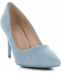 05d59de75b3b Ideal Shoes Univerzální dámské lodičky Světle modré
