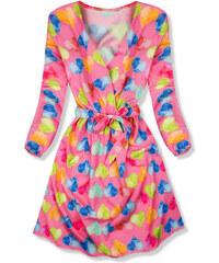 29d2589fa8b5 Trendovo Ružové šaty so srdiečkovým motívom