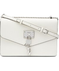 6b1b016040 DKNY Donna Karan DKNY Elissa kožená crossbody kabelka se zámečkem white  silver