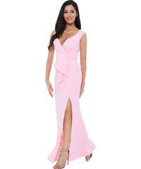d24c654986d9 City Goddess Dlouhé šaty pro družičky s rozparkem