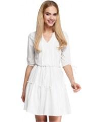 450072213257 Moe Dámské denní šaty Moe 85006 bílé - bílá - Glami.cz