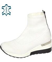 4ec31b813c OLIVIA SHOES Biele členkové ponožkové tenisky na podošve Angel DKO2046