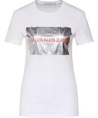 1b7f61c4f5aa Calvin Klein Jeans Tričko  INSTIT SILVER BOX LOGO TEE  Biela