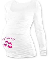 b40b20753b8e Jožánek Tehotenské tričko s potlačou DR biele