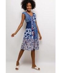 0010b5c3b4b5 Letní šaty 101 Idées A1689 modré