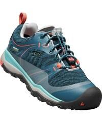 2eda7a6f2c319 Keen Dievčenské outdoorové topánky Terradora Low Wp Junior, Aqua Sea /  Coral - modré