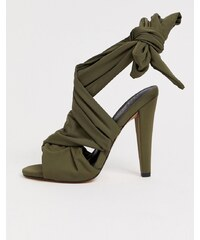 fd9d63d2a041 ASOS DESIGN Husky block heeled sandals - Khaki