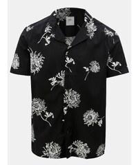7144f558568c Čierna kvetovaná košeľa Burton Menswear London