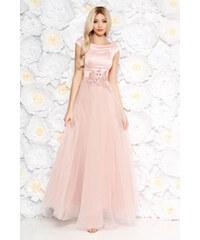 24d2c93666 StarShinerS Rózsaszínű Artista alkalmi ruha tüll szatén anyagból csipke  díszítéssel gyöngy díszítéssel belső béléssel